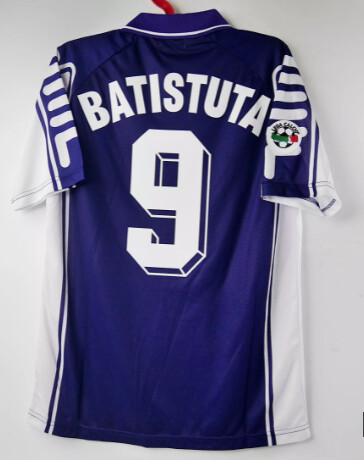 BATISTUTA 9 FIORENTINA HOME MAGLIA CASA 1999 2000