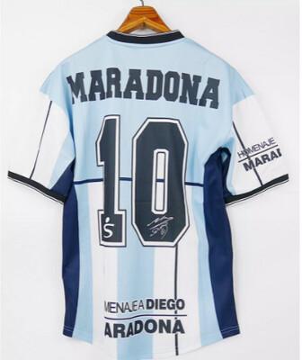 MARADONA 10 MAGLIA CASA ARGENTINA JERSEY HOME ARGENTINA TESTIMONIAL MATCH 2001