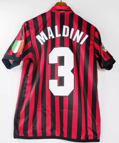 PAOLO MALDINI 3 AC MILAN MAGLIA CENTENARIO CENTENARY JERSEY