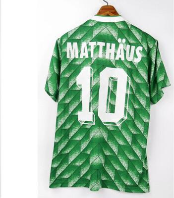 LOTHAR MATTHAUS GERMANY WORLD CUP 1990 MONDIALI MAGLIA JERSEY MONDIALI 1990