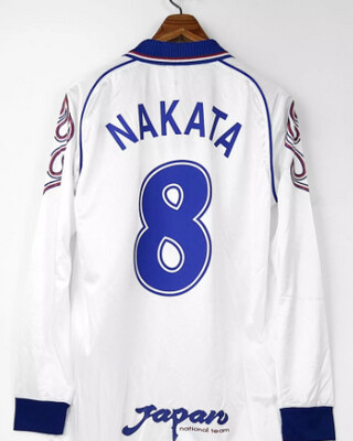 GIAPPONE MAGLIA TRASFERTA JERSEY AWAY WORLD CUP 1998 NAKATA 8 JAPAN JERSEY
