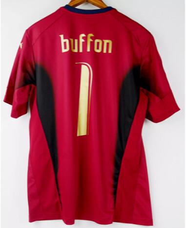 ITALIA WORLD CUP 2006 MONDALI BUFFON MAGLIA PORTIERE 1 BUFFON ITLAY GOALKEEPER RED 2006