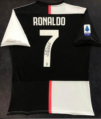 Juventus Maglia Casa Cristiano Ronaldo CR7 JUVENTUS AUTOGRAFATA SIGNED AUTOGRAPH Hand Signed Autograph Cristiano Ronaldo CR7 DOPPIO CERTIFICATO COA DI AUTENTICITA' DOUBLE COA CERTIFICATE