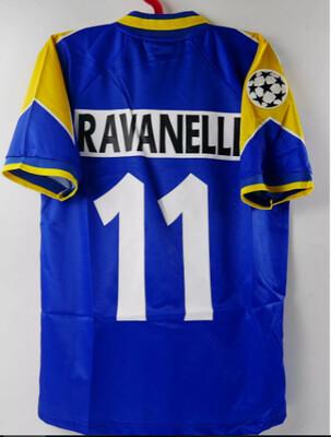 RAVANELLI 11 MAGLIA TRASFERTA JERSEY AWAY JUVENTUS FINAL CHAMPIONS 1996 VS AJAX