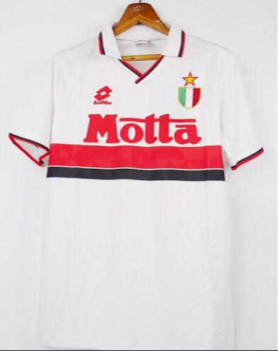 AC MILAN AWAY WHITE 1993 1994 MAGLIA TRASFERTA 93 94 no nome no numero no name no number