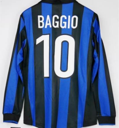 INTER ROBERO BAGGIO MAGLIA CASA JERSEY HOME 1998 1999