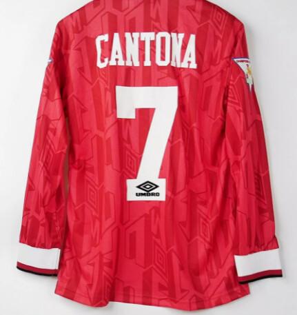 MANCHESTER UNITED MAGLIA CASA JERSEY HOME 1992 1994 ERIK CANTONA 7