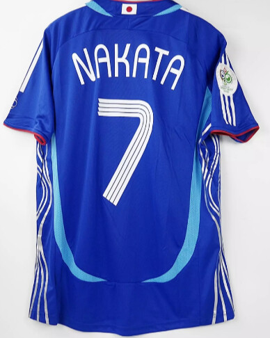 GIAPPONE WORLD CUP 2006 MAGLIA MONDIALI 2006 JERSEY WORLD CUP 2006 JAPAN NAKATA 7