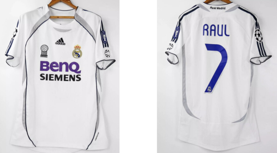 REAL MADRID MAGLIA CASA JERSEY HOME RAUL 7 2006 2007