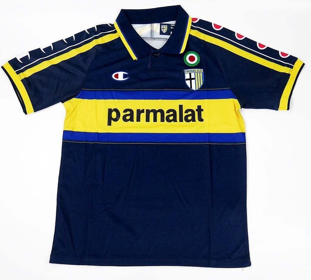 PARMA AWAY NAVY BLUE 1999 2000 MAGLIA TRASFERTA 99 00