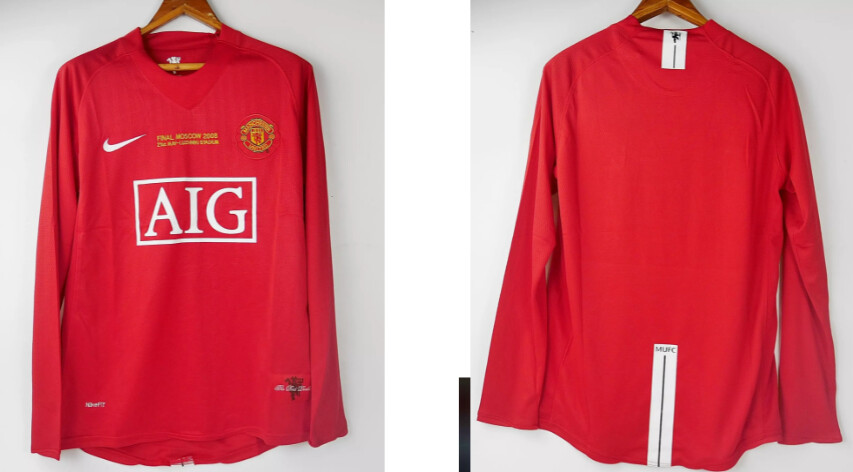 MANCHESTER UNITED MAGLIA CASA JERSEY HOME FINAL MOSCA 2008 MOSCOW 2008