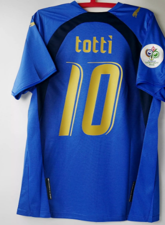 ITALIA MAGLIA MONDIALE 2006 WORLD CUP 2006 JERSEY TOTTI 10