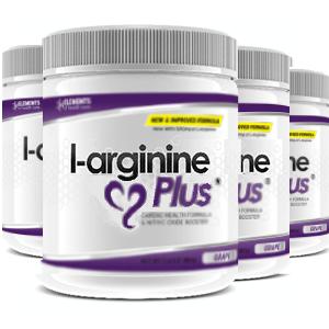 4 tubs of L-Arginine Plus™ (120 day supply) 1000 IUs of vitamin D3 – Grape Flavour