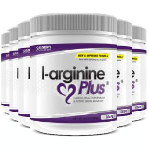 6 tubs of L-Arginine Plus™ (180 day supply) 1000 IUs of vitamin D3 – Grape Flavour
