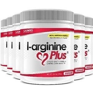 6 tubs of L-Arginine Plus™ (180 day supply) 2500 IUs of vitamin D3 – Raspberry Flavour