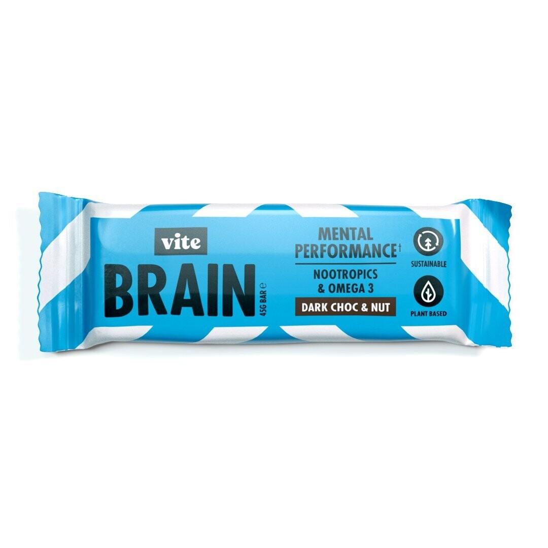 Vite Brain Bar (pack of 12)- Dark Choc & Nut Flavour