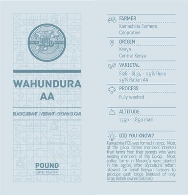 Limited Release Kenya Wahundura AA - Filter Roast