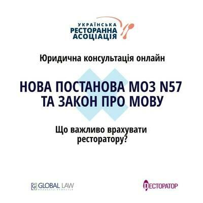 Нова Постанова МОЗ №57 та Закон про мову – що важливо врахувати ресторатору?