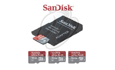SanDisk Micro SD Card 80MB/s with Card Adapter Set