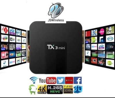 Tanix TX3 TV Box 4K Quad Core 64bit Amlogic S905W Android 8.1 Dual Band Wi-Fi w/ online TV service