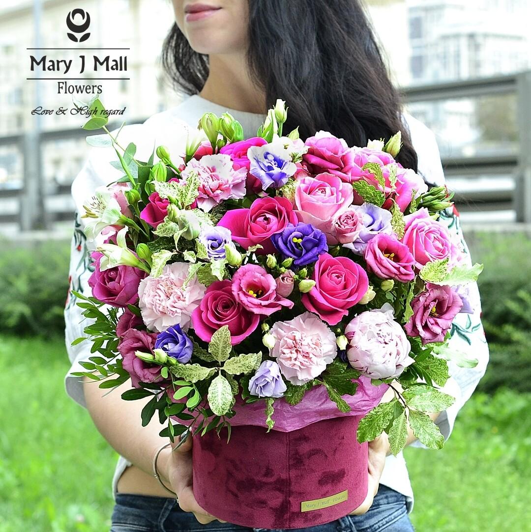"""Цветы в коробке """"Premium 10"""""""