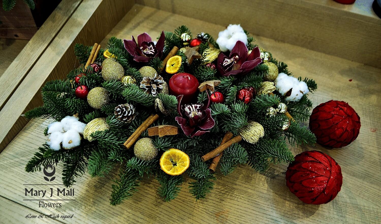 Новогодняя композиция на стол №1