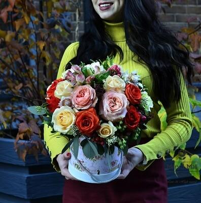 Цветы в коробке №34