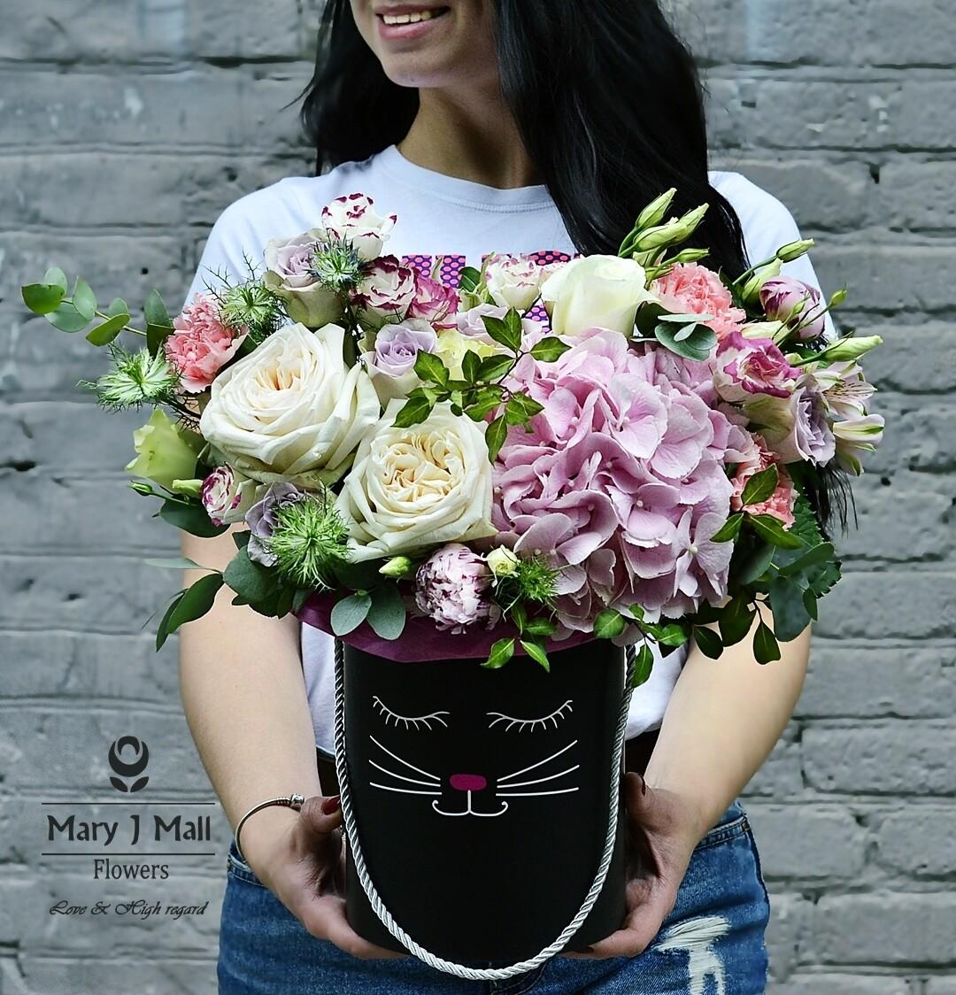 Цветы в коробке №42