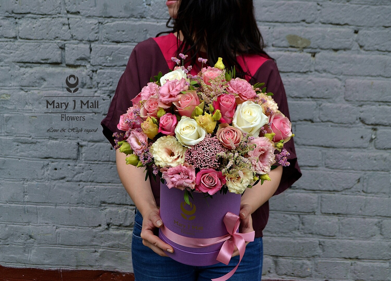 Цветы в коробке №50