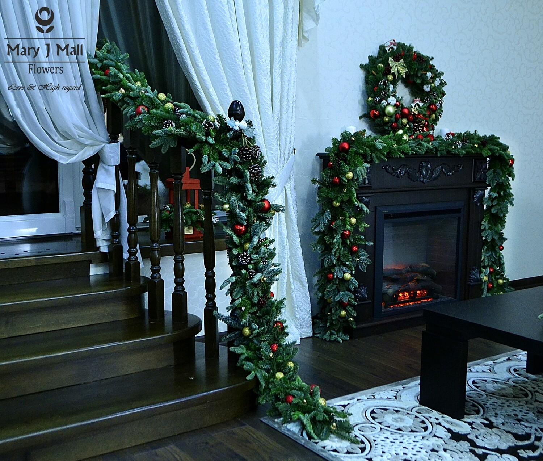 Новогоднее оформление интерьера 33