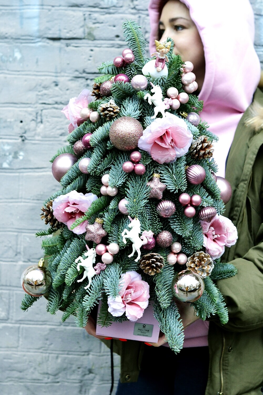 Розовая Ель из датской пихты