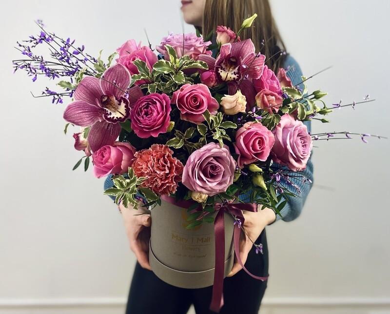 Цветы в коробке №35