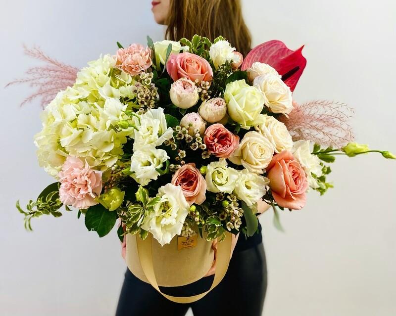 Цветы в коробке №36