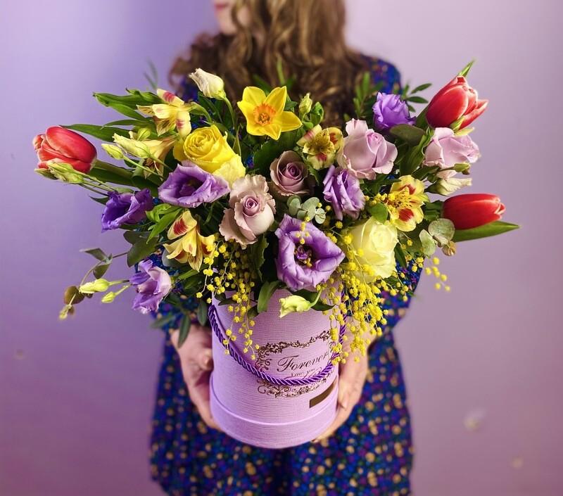 Цветы в коробке №39