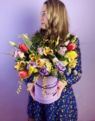 Цветы в коробке №38