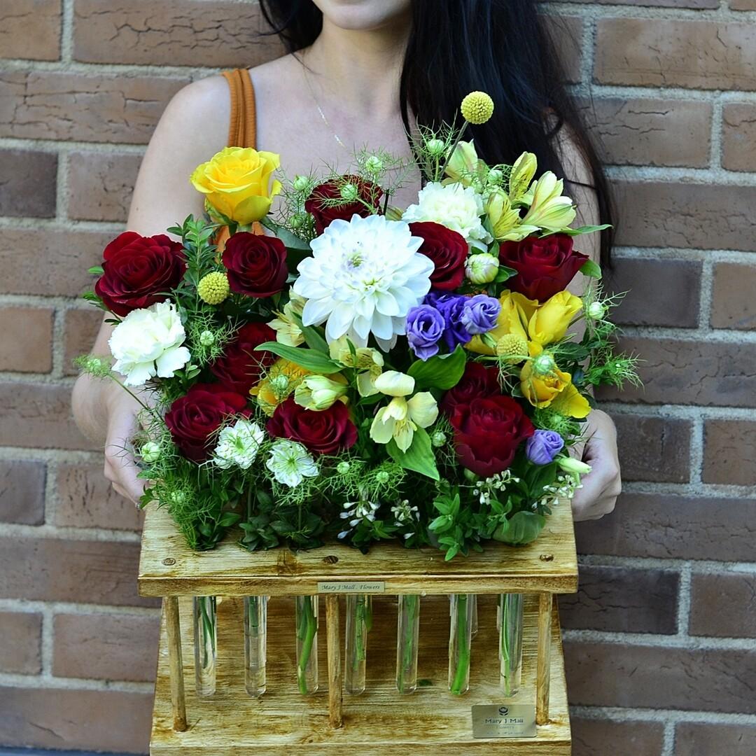 Цветы в колбах №3