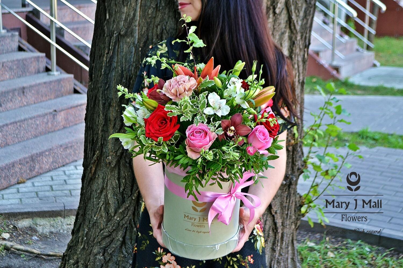 Цветы в коробке №51