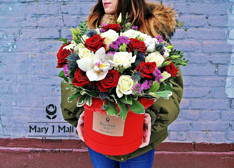 Цветы в коробке №57
