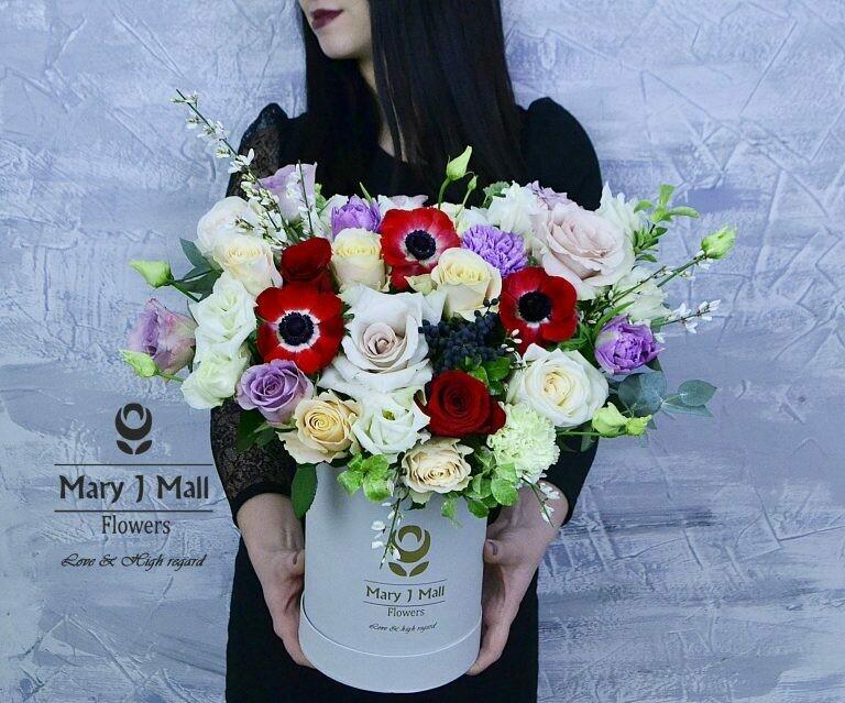 Цветы в коробке №62