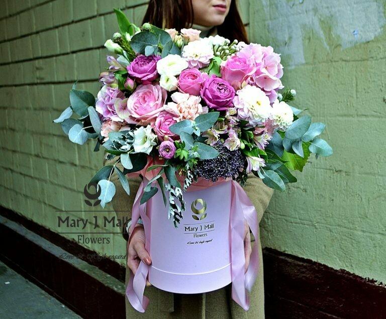 Цветы в коробке №64