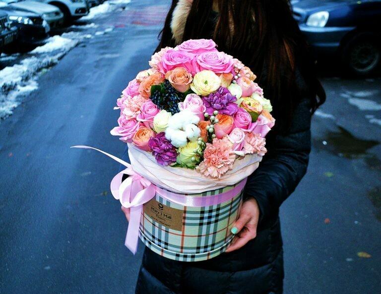 Цветы в коробке №66