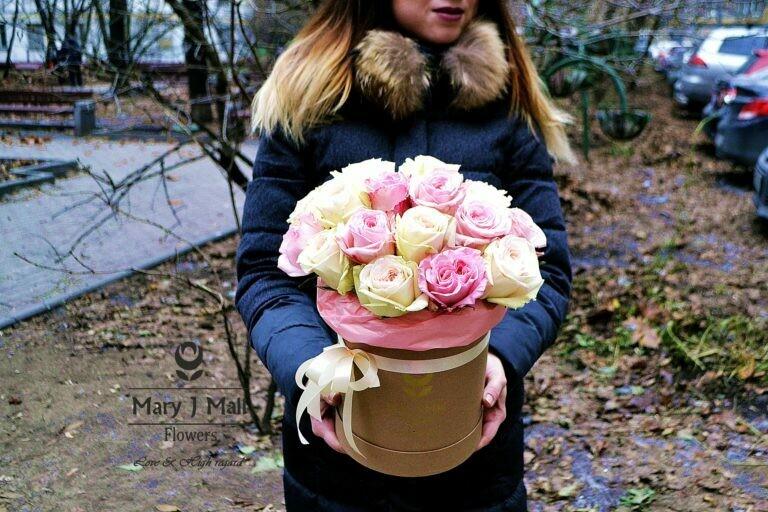 Цветы в коробке №65
