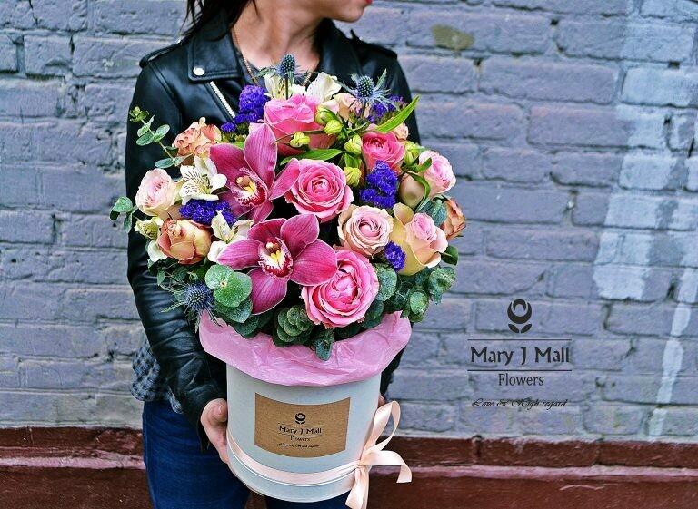 Цветы в коробке №73