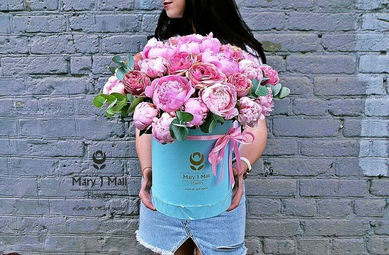 Цветы в коробке №75