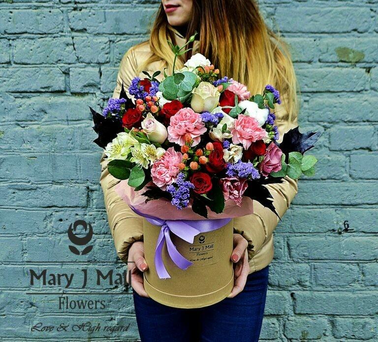 Цветы в коробке №72