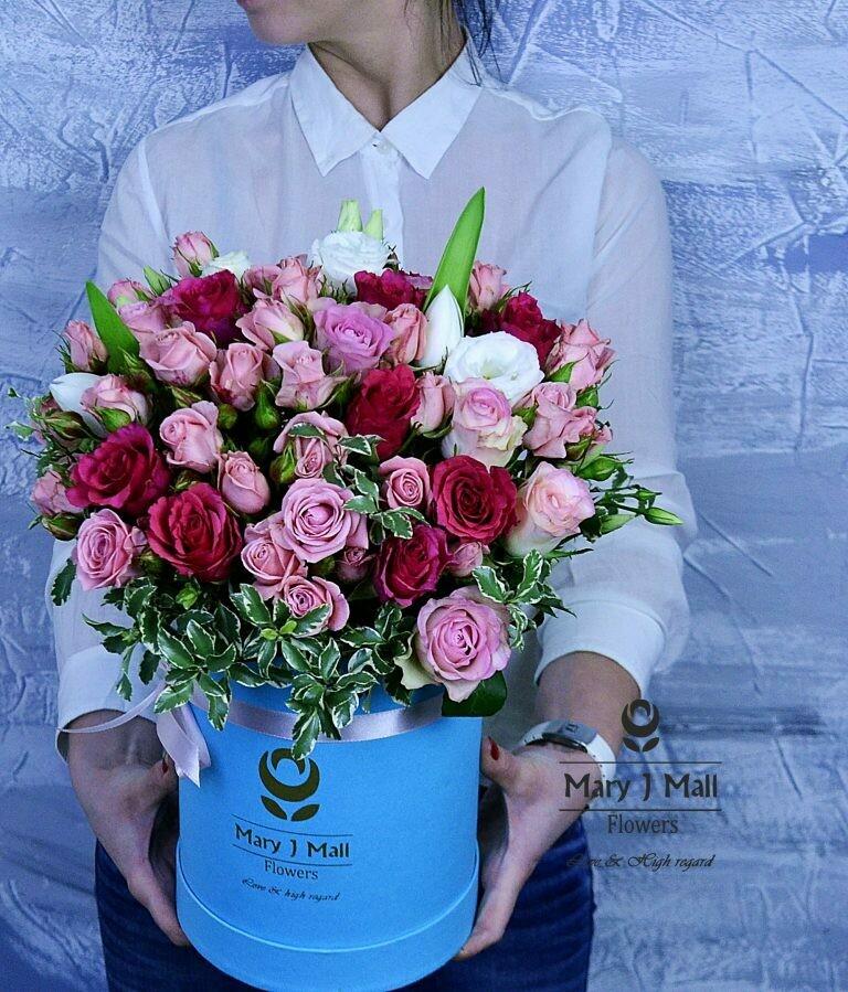 Цветы в коробке №79