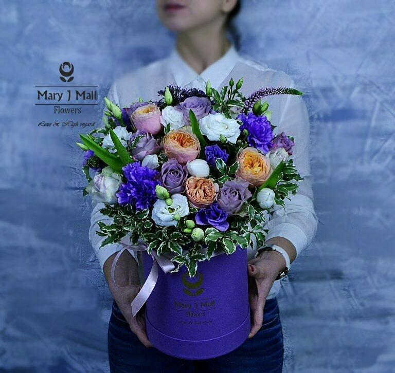 Цветы в коробке №80