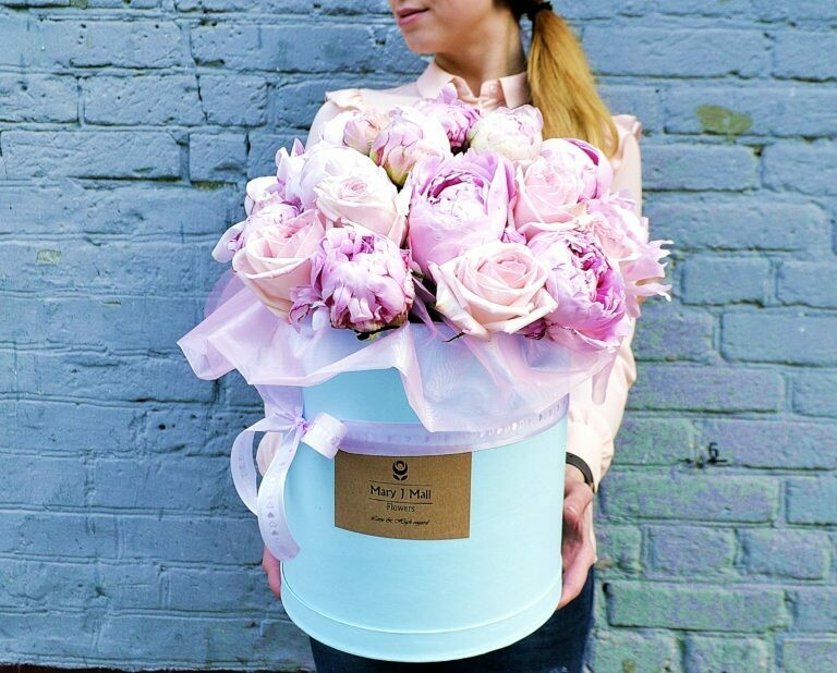 Цветы в коробке №76