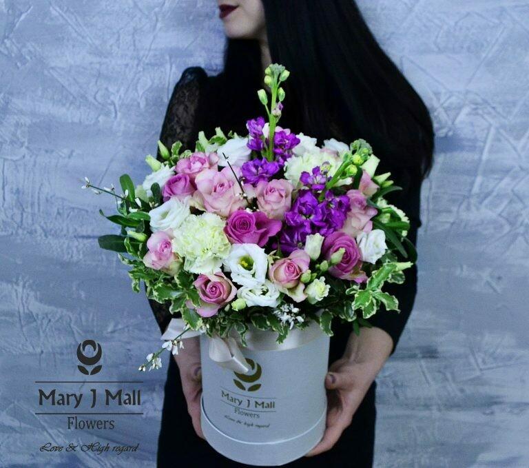 Цветы в коробке №77