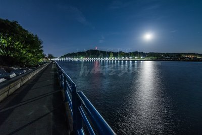Moonrise Over Grand Haven